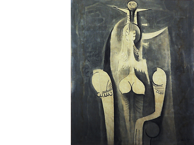 Wifredo Lam, Femme assise, 1940, collection prive